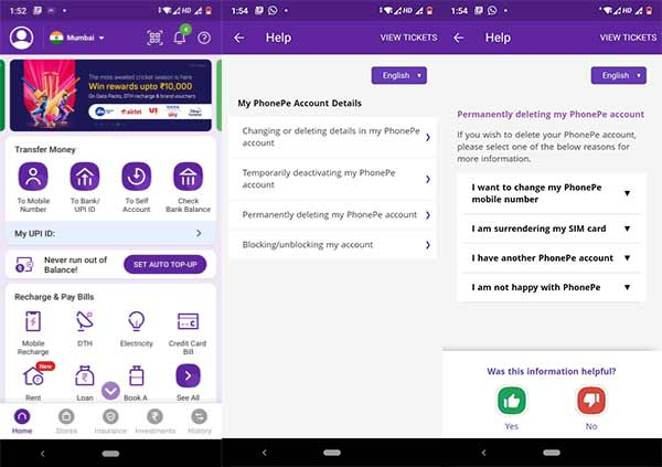 How to Permanently Delete a PhonePe Account in India